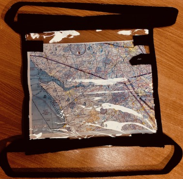 Mapcase suitable for open cockpit flying
