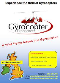 A 60 minute flight and flying lesson in an open cockpit Gyrocopter. This will be either the Magni M16 or the Rotorsport MT03/MT0 Sport depending upon your personal choice and availability of aircraft at the chosen location. The flight can be taken at any Gyrocopter Experience location. Included in the pack is a short DVD, an information leaflet and the voucher that confirms the flight has been prepaid. This is our Best Selling open cockpit flight!