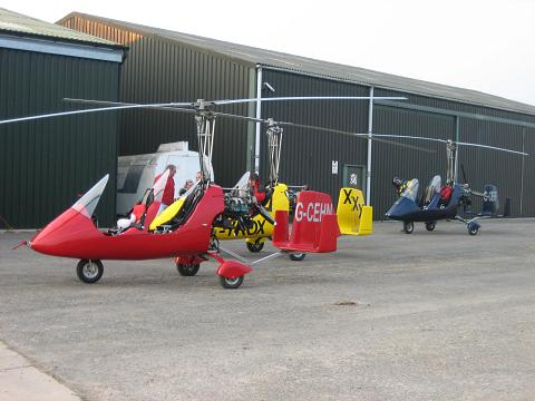Photo of the day: Gyros line up outside the hangars